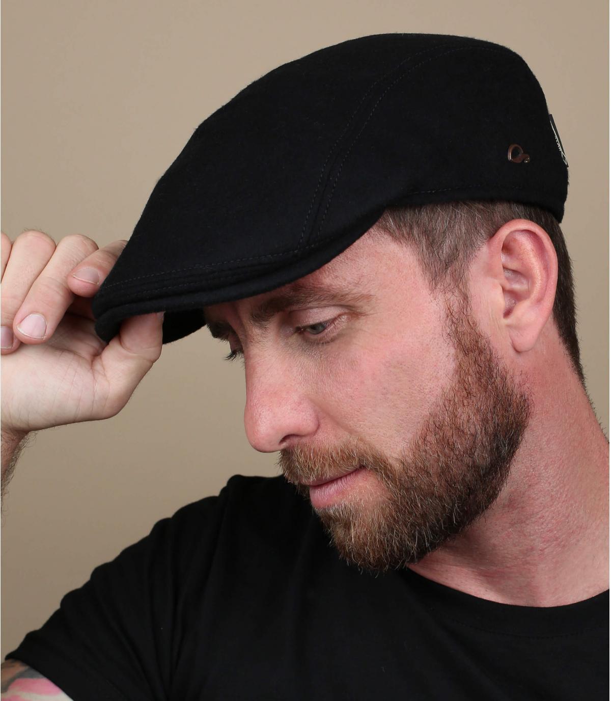 zwarte baret Gore Tex-wol