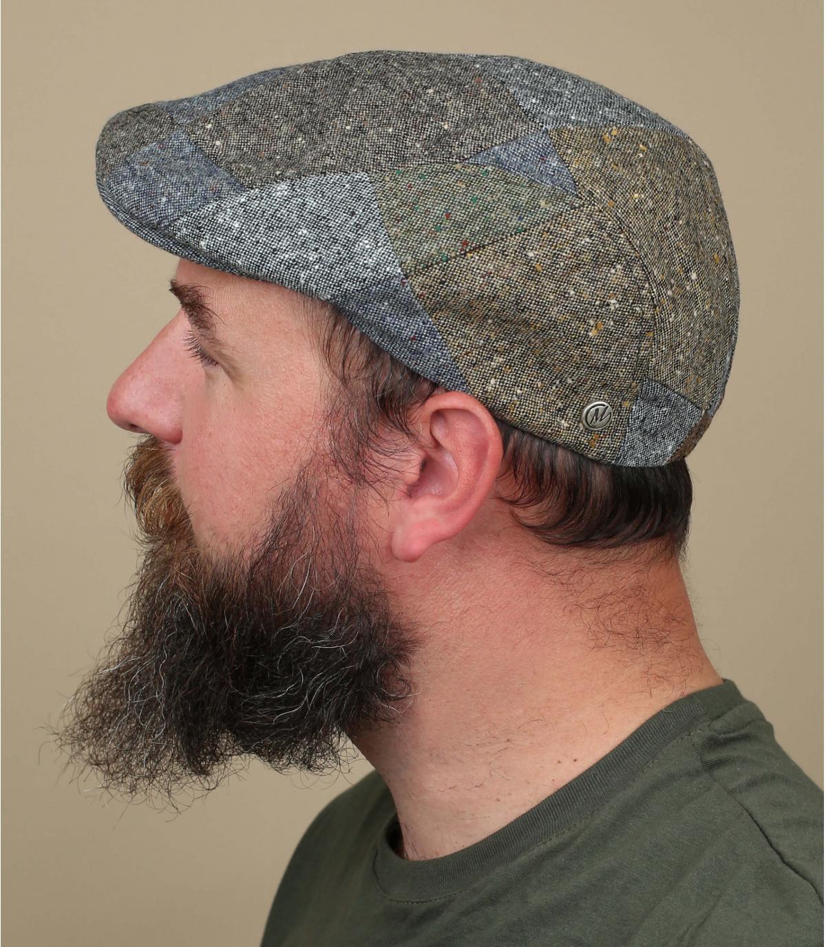 wollen patchwork baret