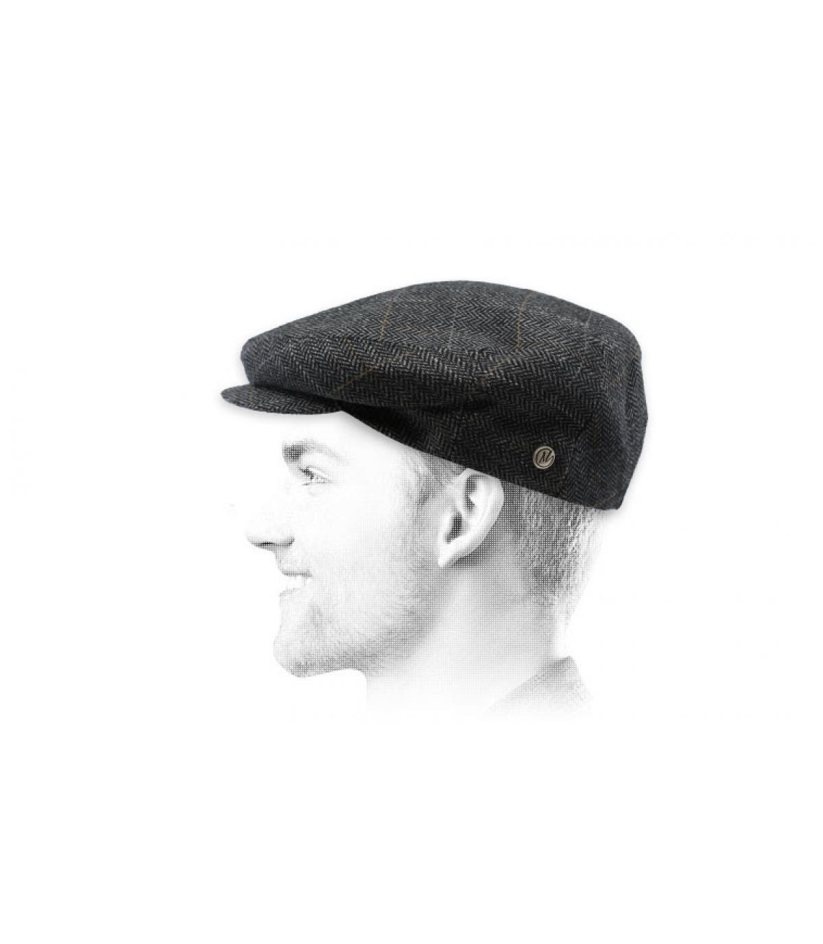 grijs baretpatroon