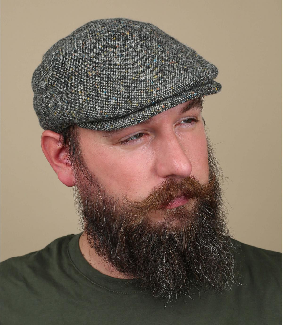 baret grijze heide wol