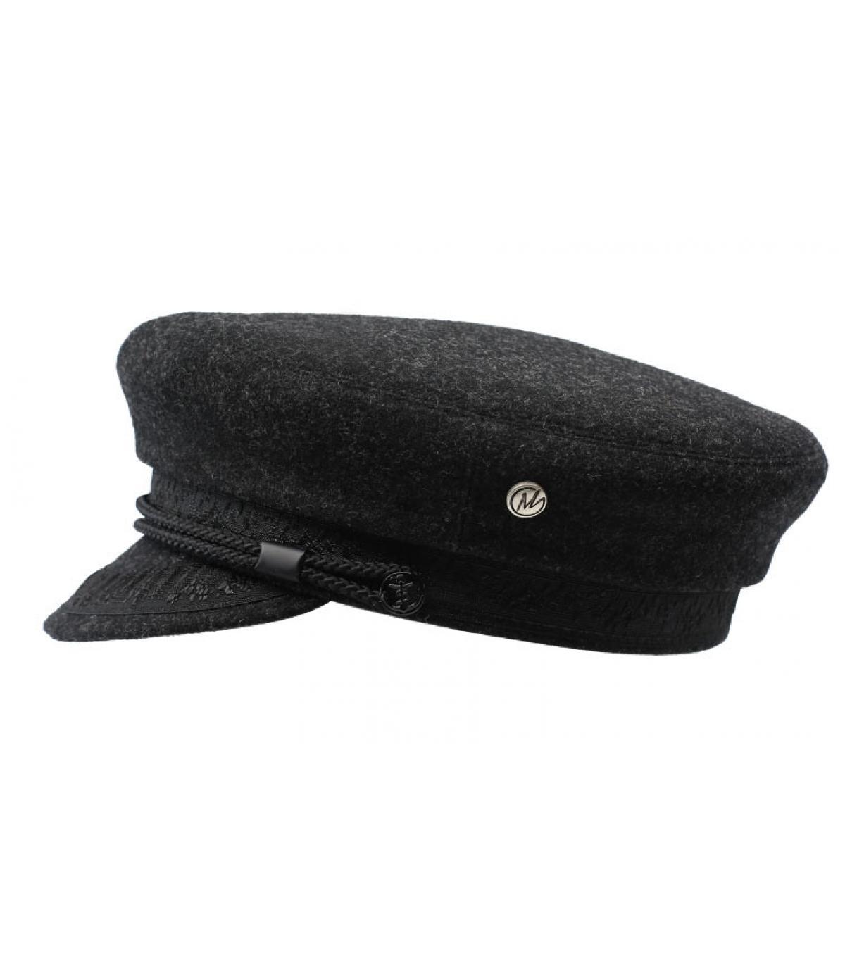 grijze wol matroos cap