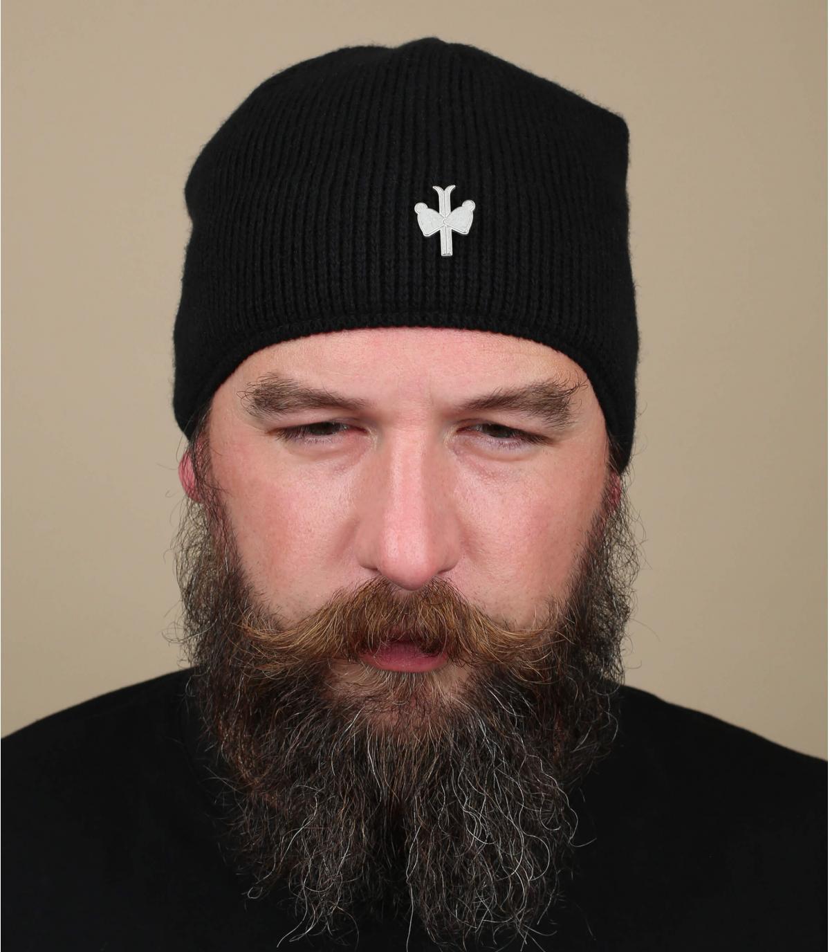 bonnet wol kasjmier zwart