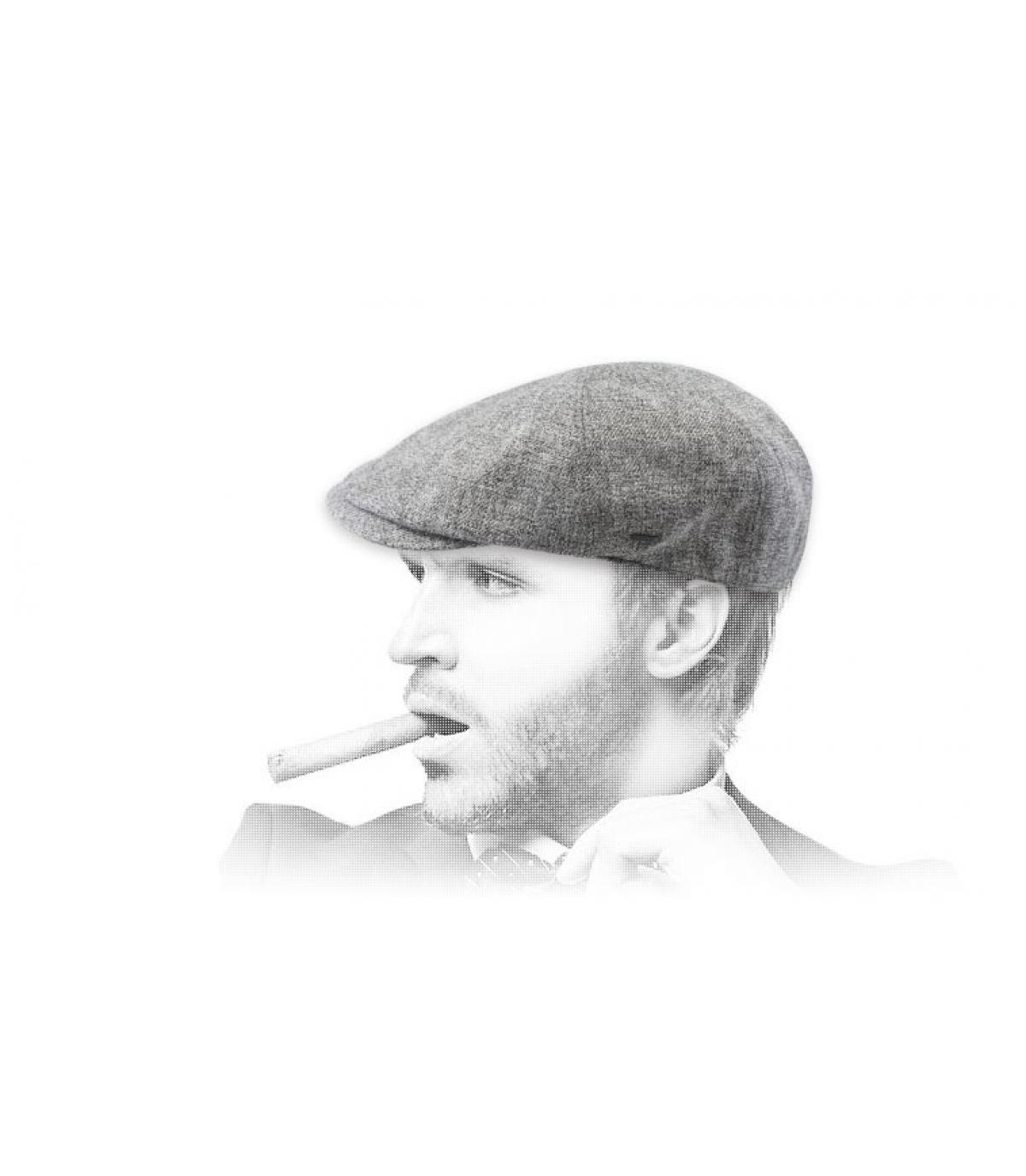Bailey grijze eendenbek baret