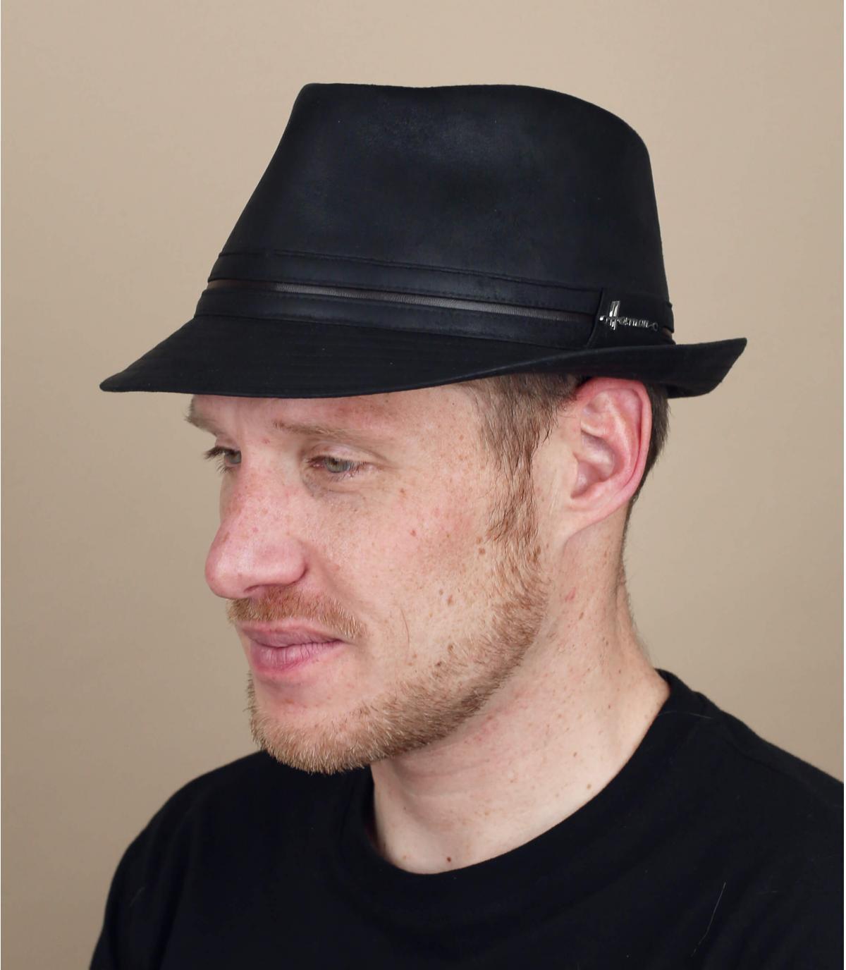 zwarte trilby Herman