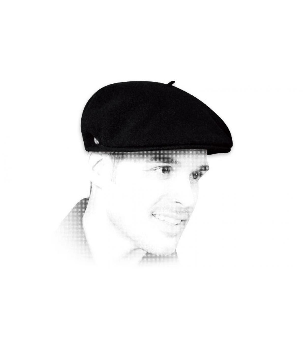 Franse cap zwart