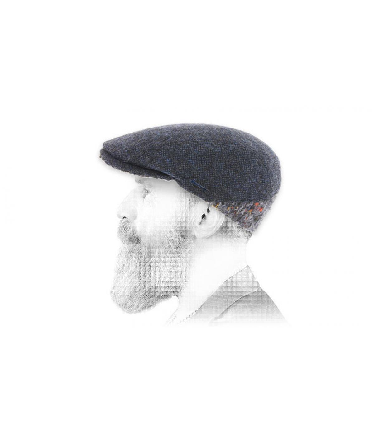 blauwe wol baret