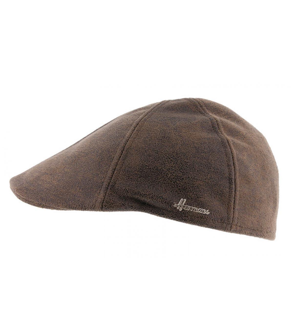 bruine eendenbek baret
