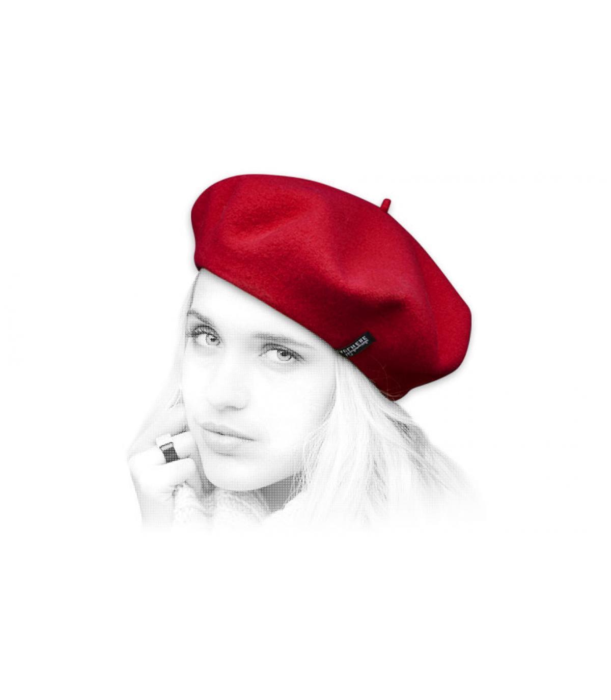Dames baret rood