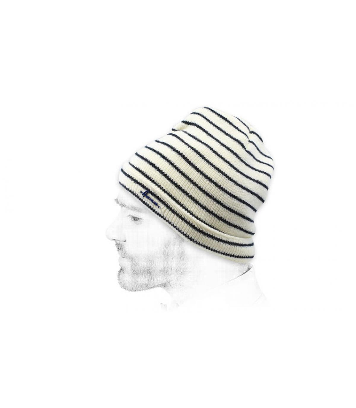 zwart wit gestreepte hoed