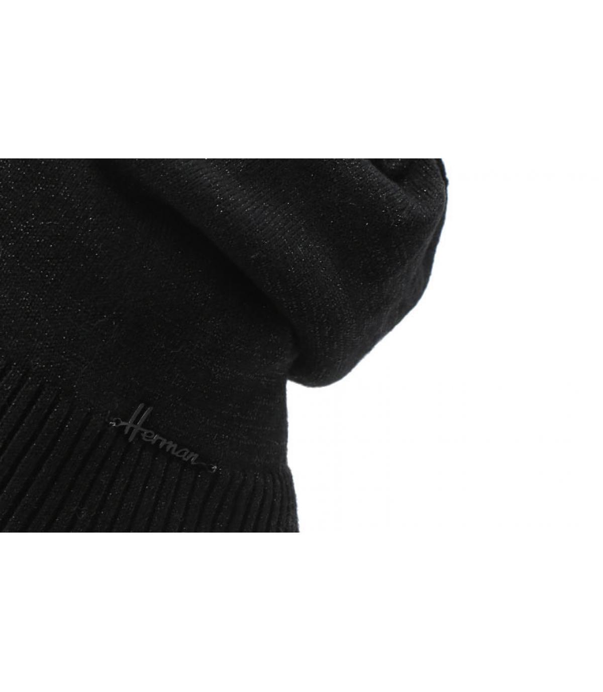 Lange zwarte lurex-pet