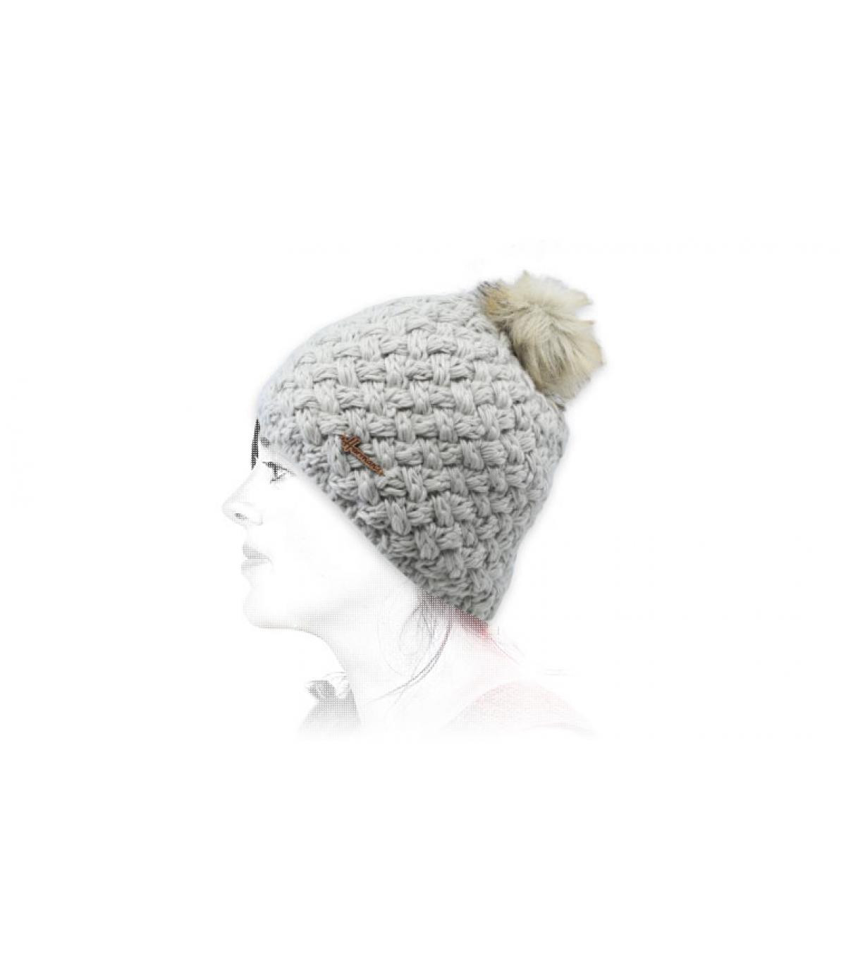 vacht grijze wollen hoed