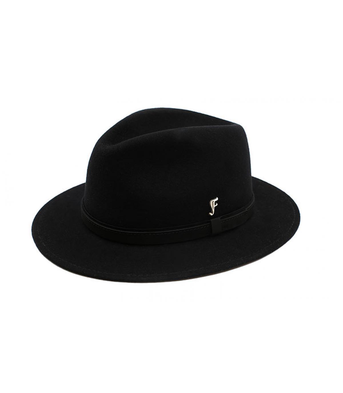 Vezel Zwart Fedora Fléchet