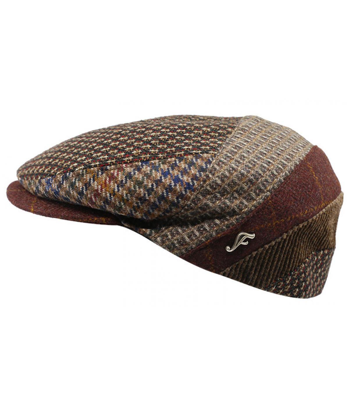 baret bruin wol patroon