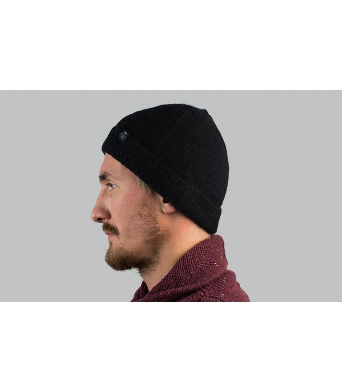 alpaca hoed zwart Barts