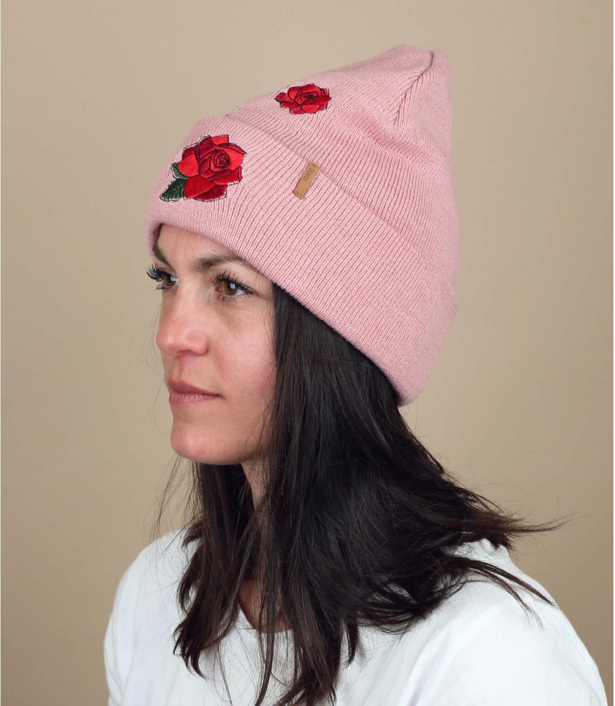 roze bloemen hoed Barts
