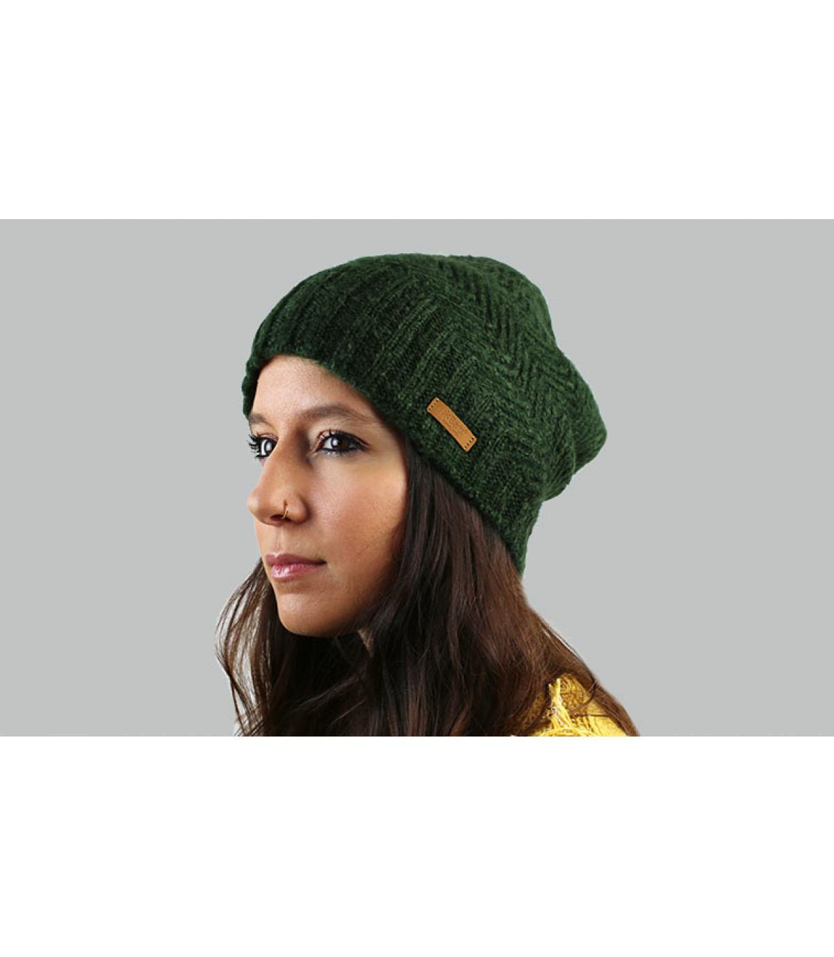 lange groene hoed Barts