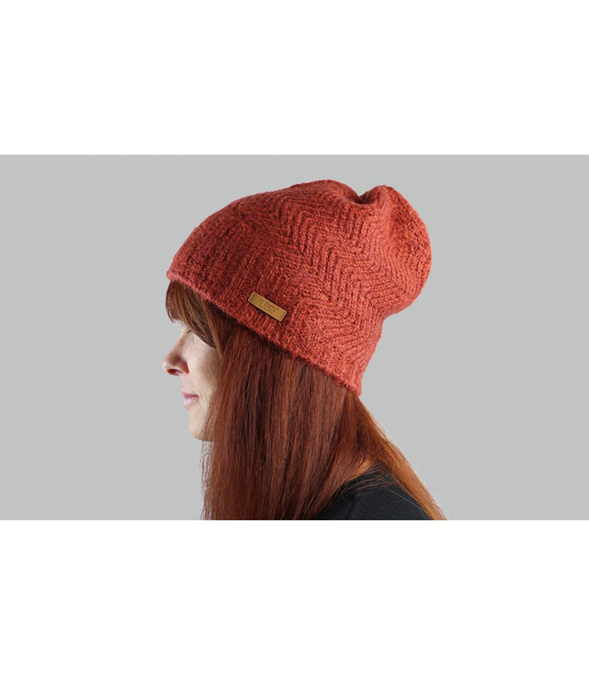 Barts oranje lange hoed
