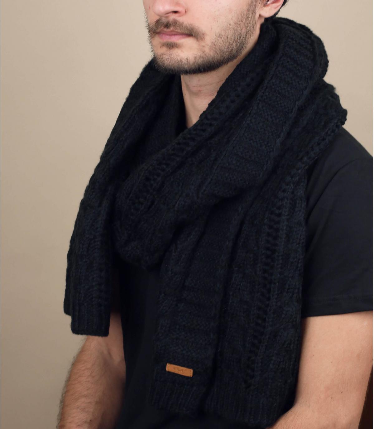 Zwarte sjaal Barts