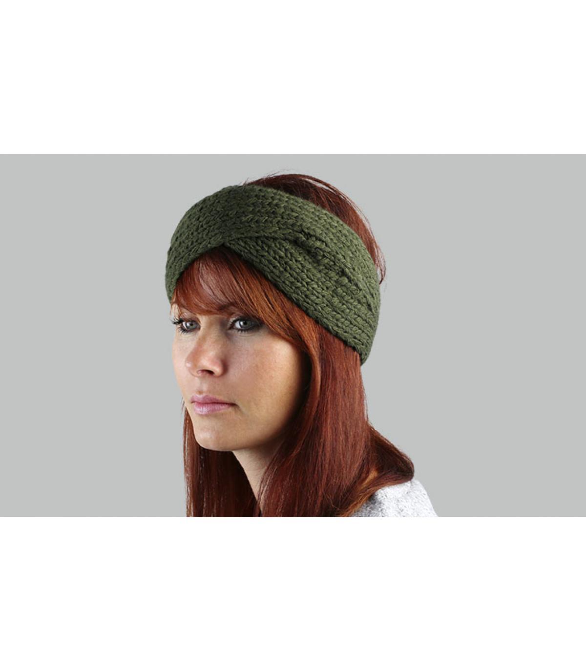 groene gekruiste hoofdband