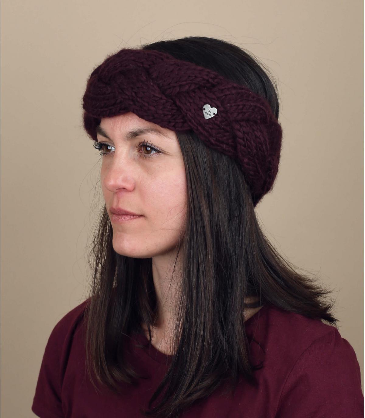 bordeaux gevlochten hoofdband