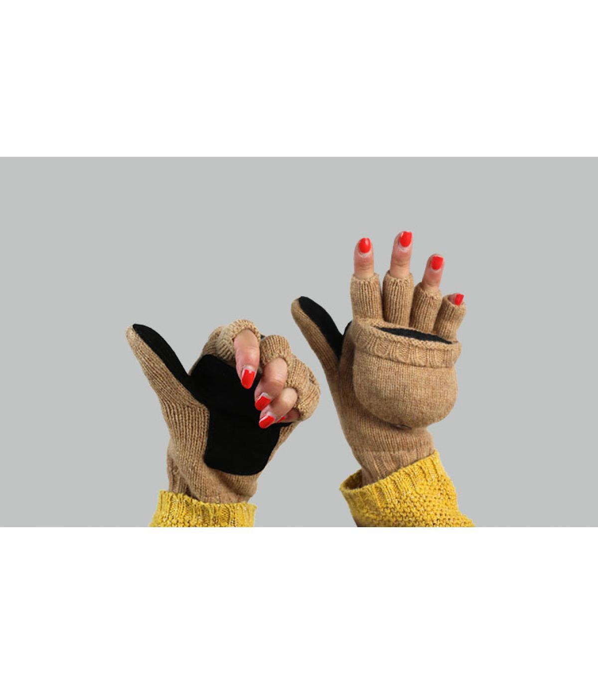 wanten handschoenen vrouw beige