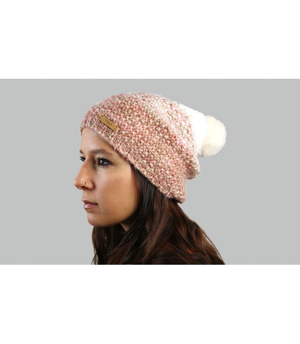 roze gradiënt lange hoed