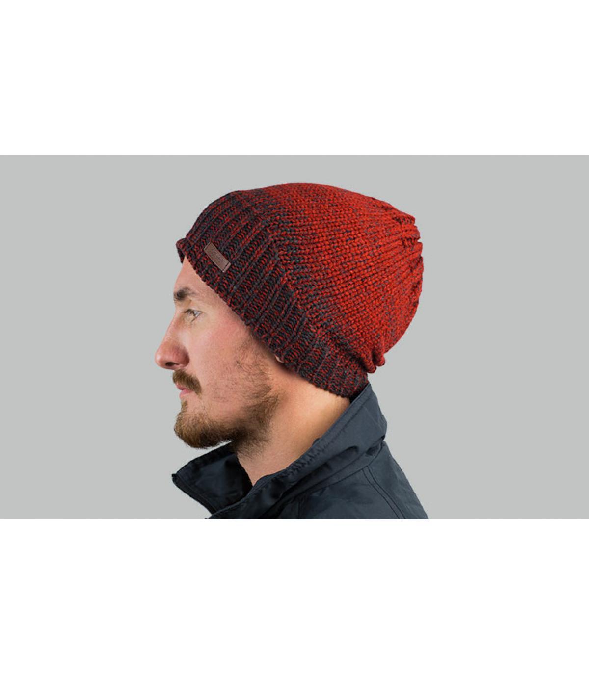 bordeaux gradiënt lange hoed