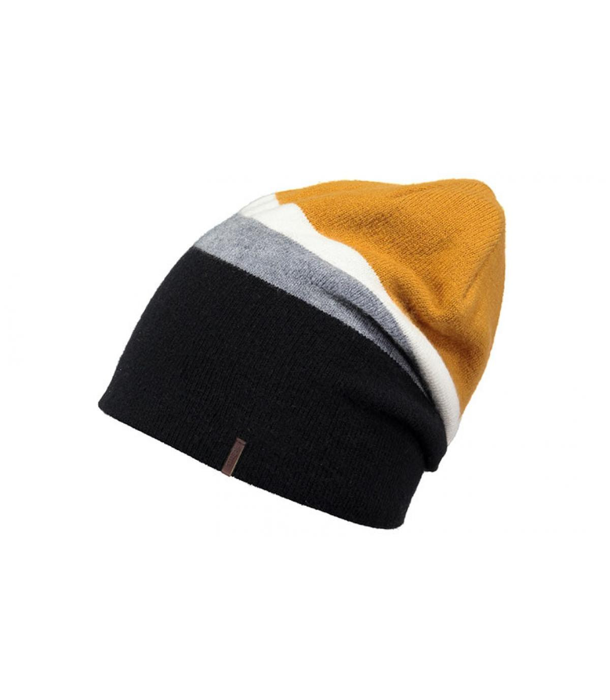 lange zwarte hoed geel