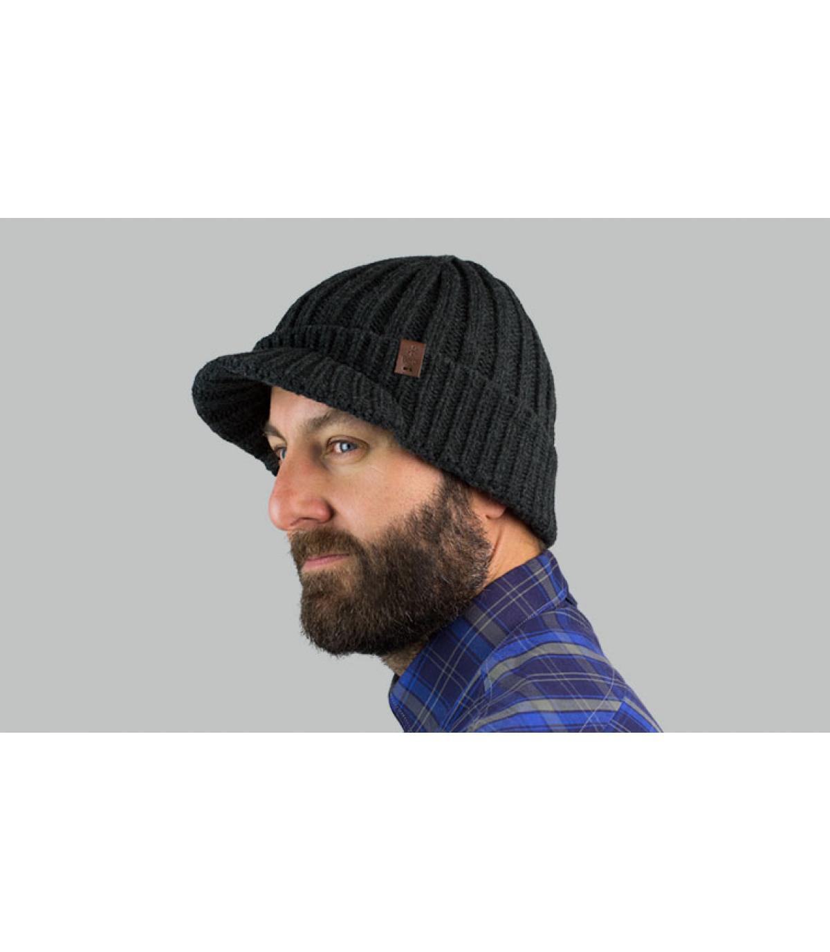 grijze vizier hoed Barts