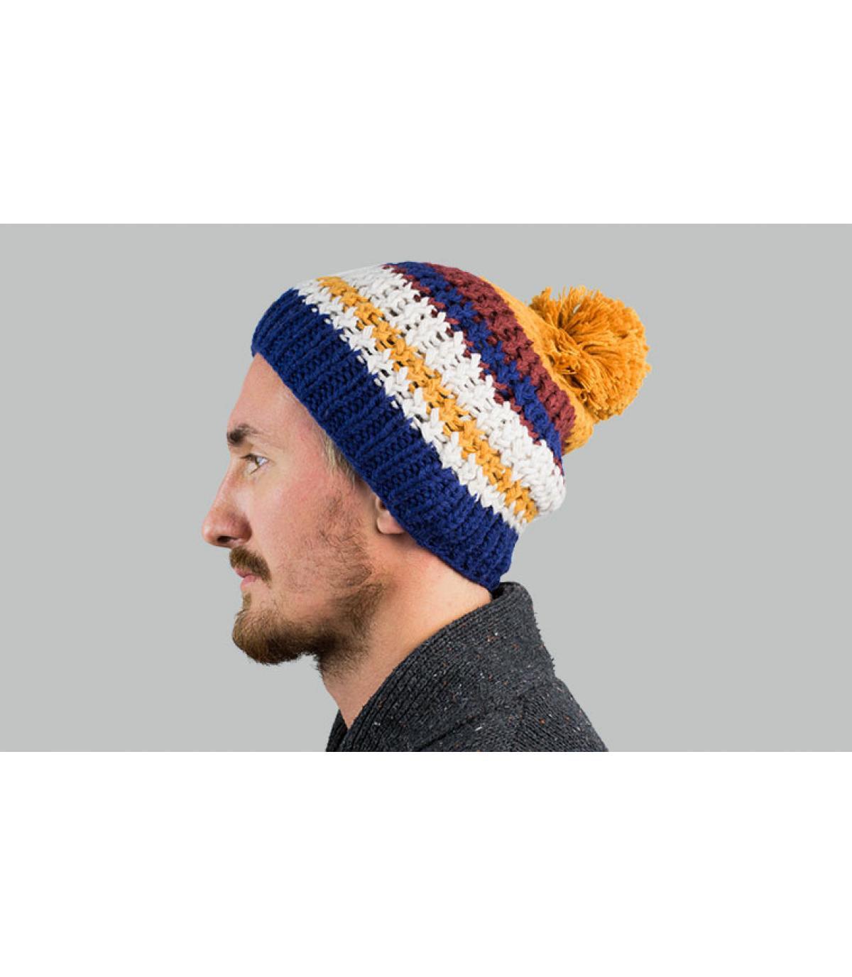 Oker Tassel Stripe Hat