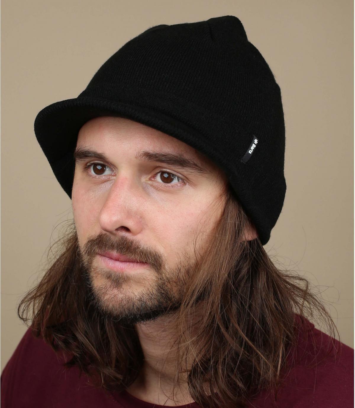 zwart vizier cap