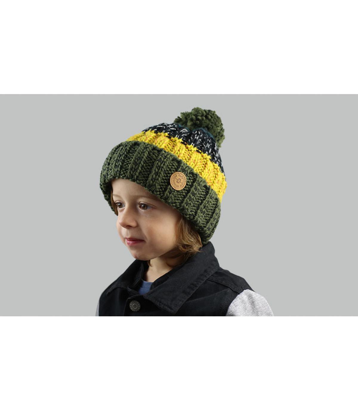 poncho hoed kinder streep