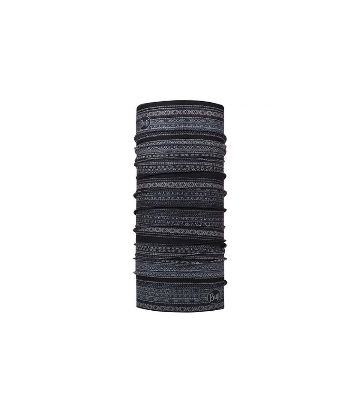 Buff zwart grijs gedrukt