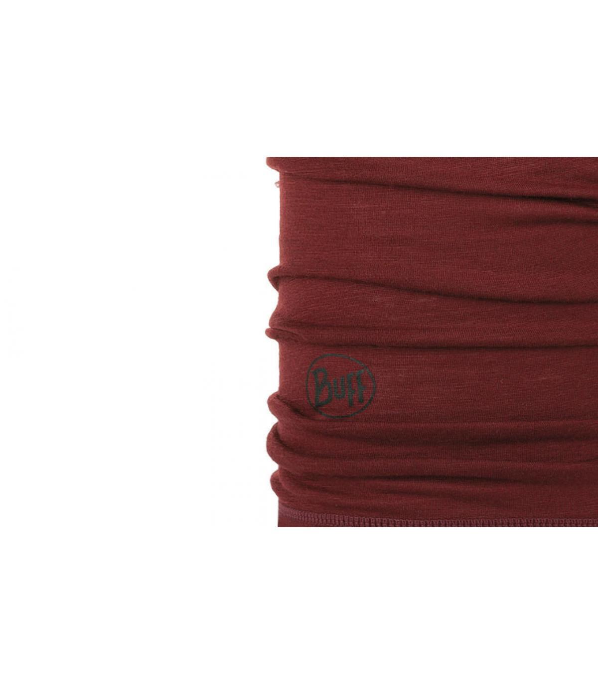 Details Lightweight Merino Wool solid wine - afbeeling 2