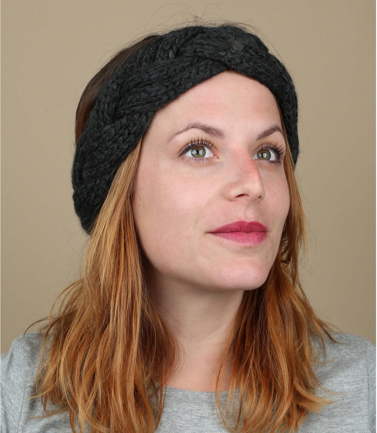 Grijze plaited hoofdband