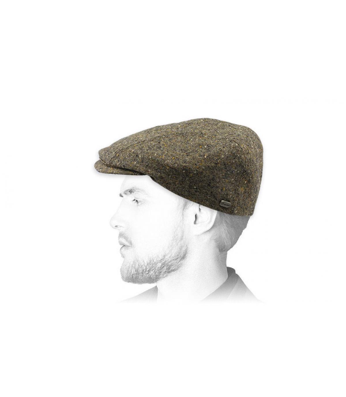 grijze beige baret