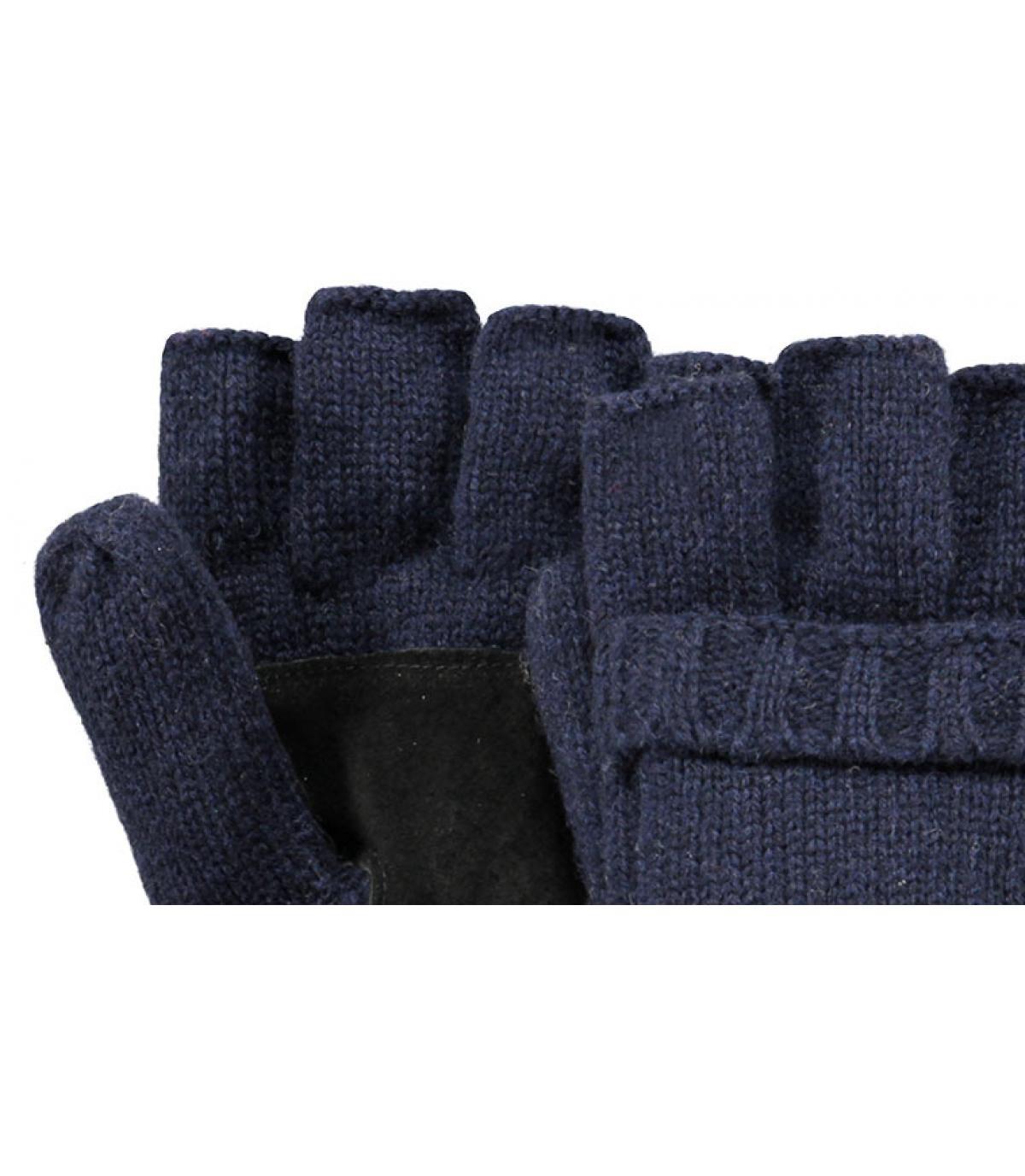 Blauwe wanten handschoenen