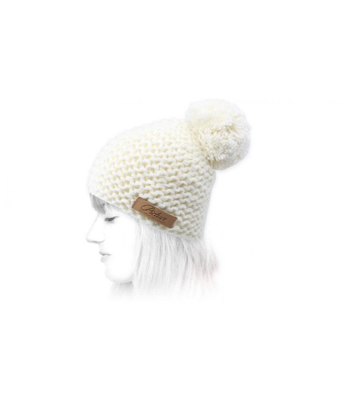 witte pompom cap Afbeelding