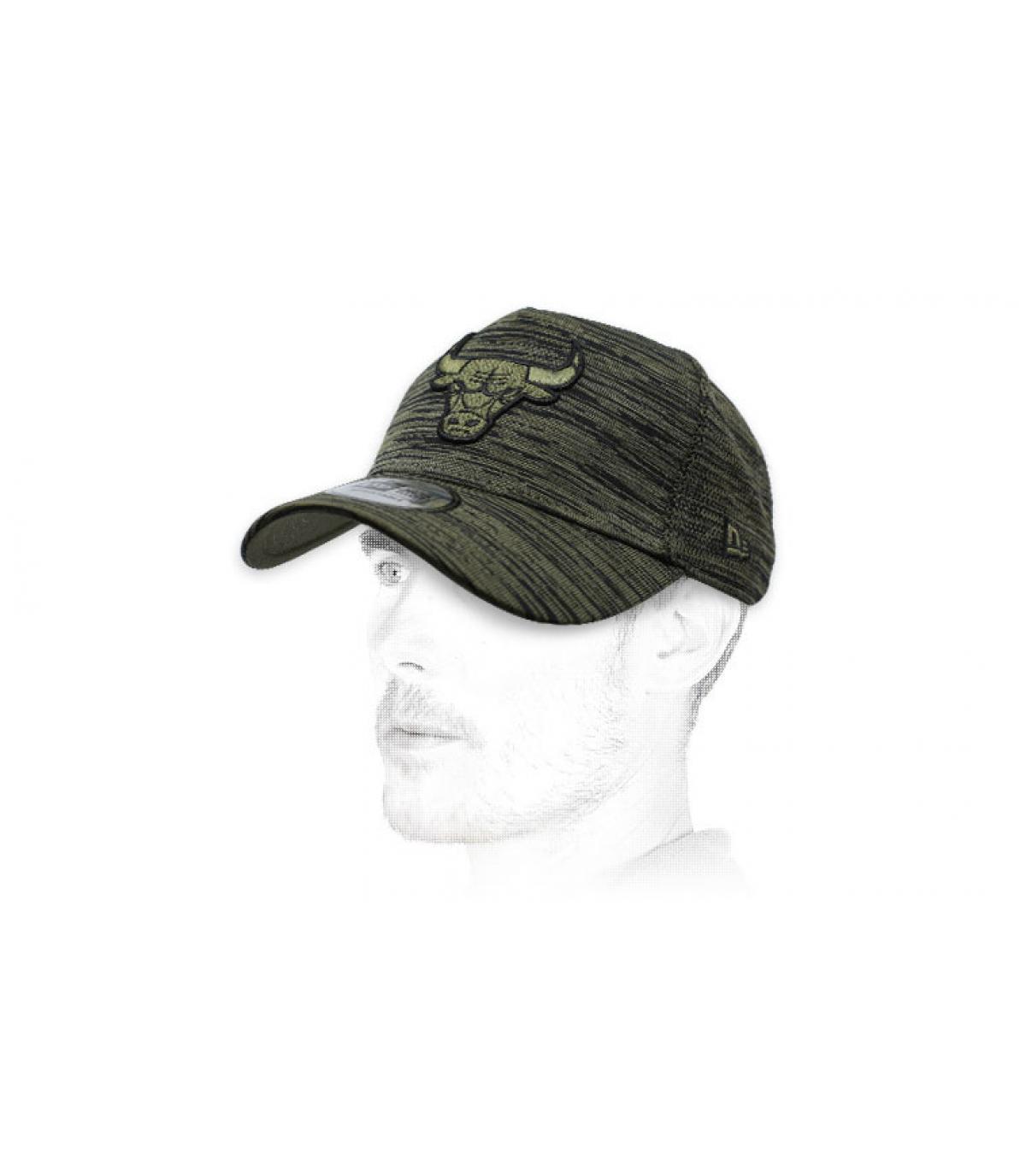 Bulls green heather cap