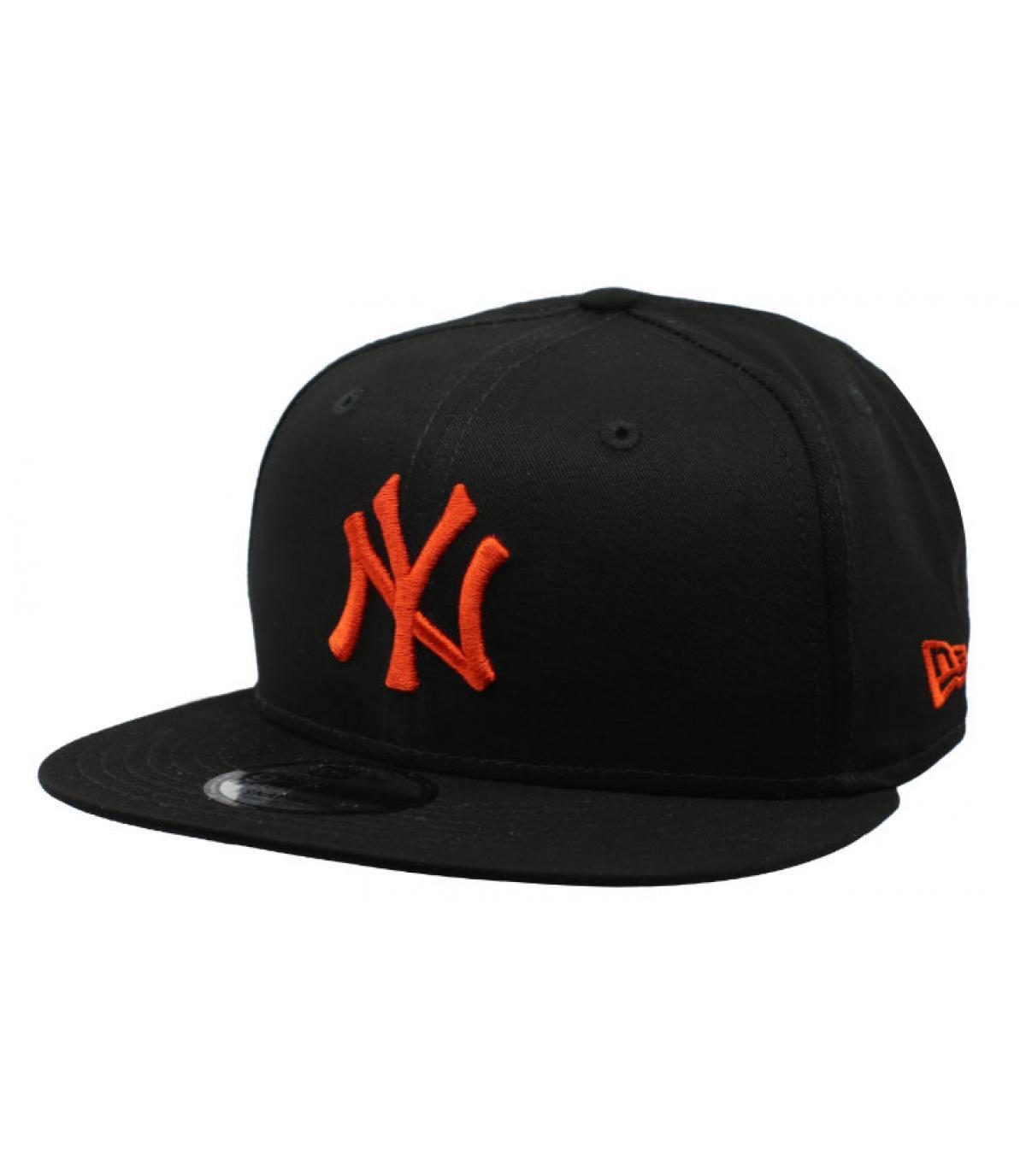 snapback NY zwart rood