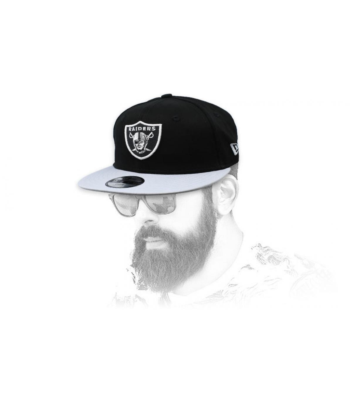 snapback Raiders zwart grijs