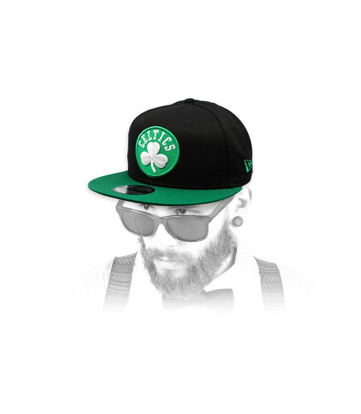 Celtics snapback groen zwart