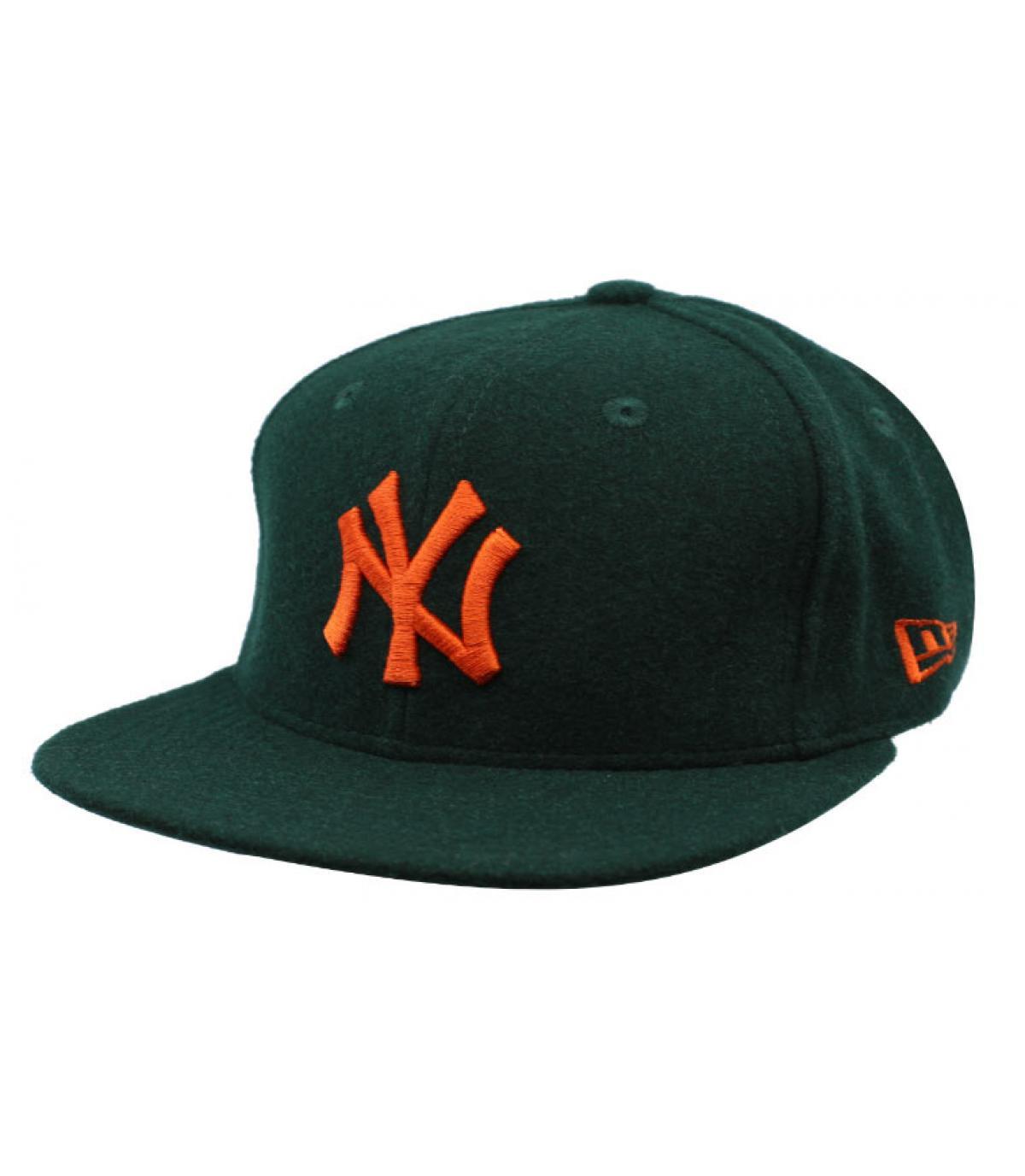 Details Winter Utility NY Melton 9Fifty dark green orange - afbeeling 2