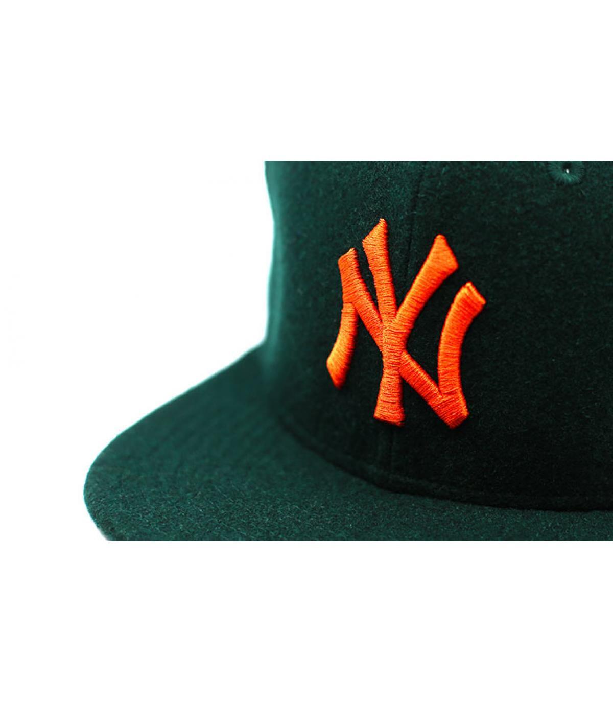 Details Winter Utility NY Melton 9Fifty dark green orange - afbeeling 3