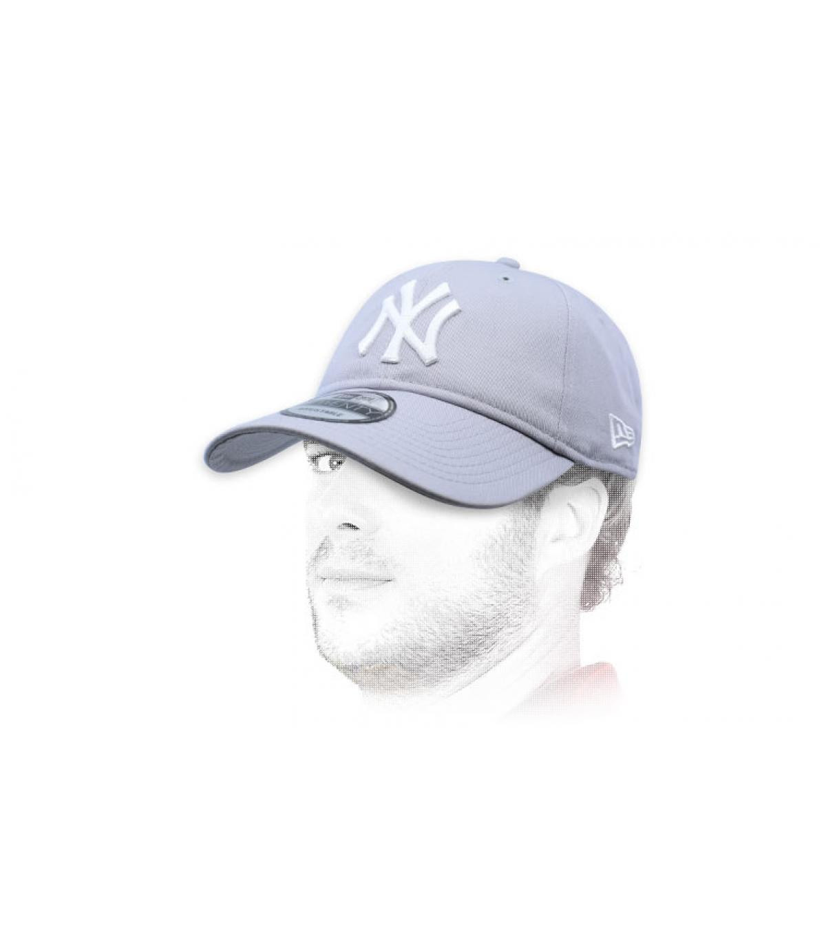 opvouwbare grijze NY cap