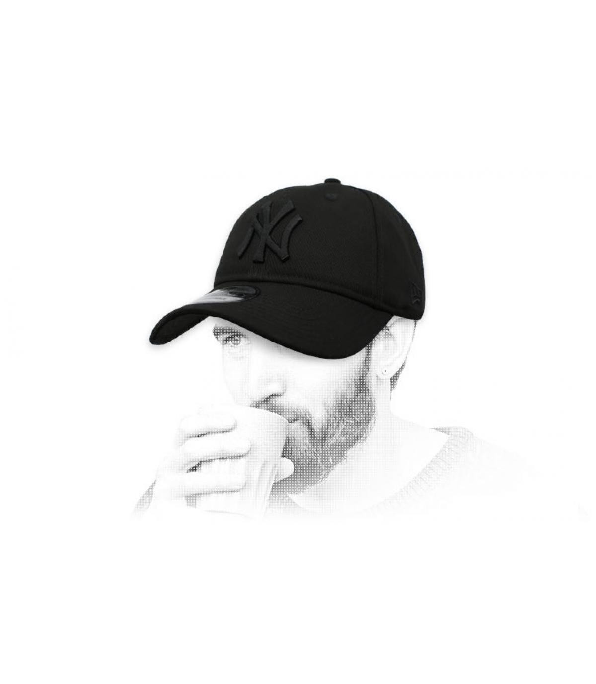 opvouwbare zwarte NY-cap