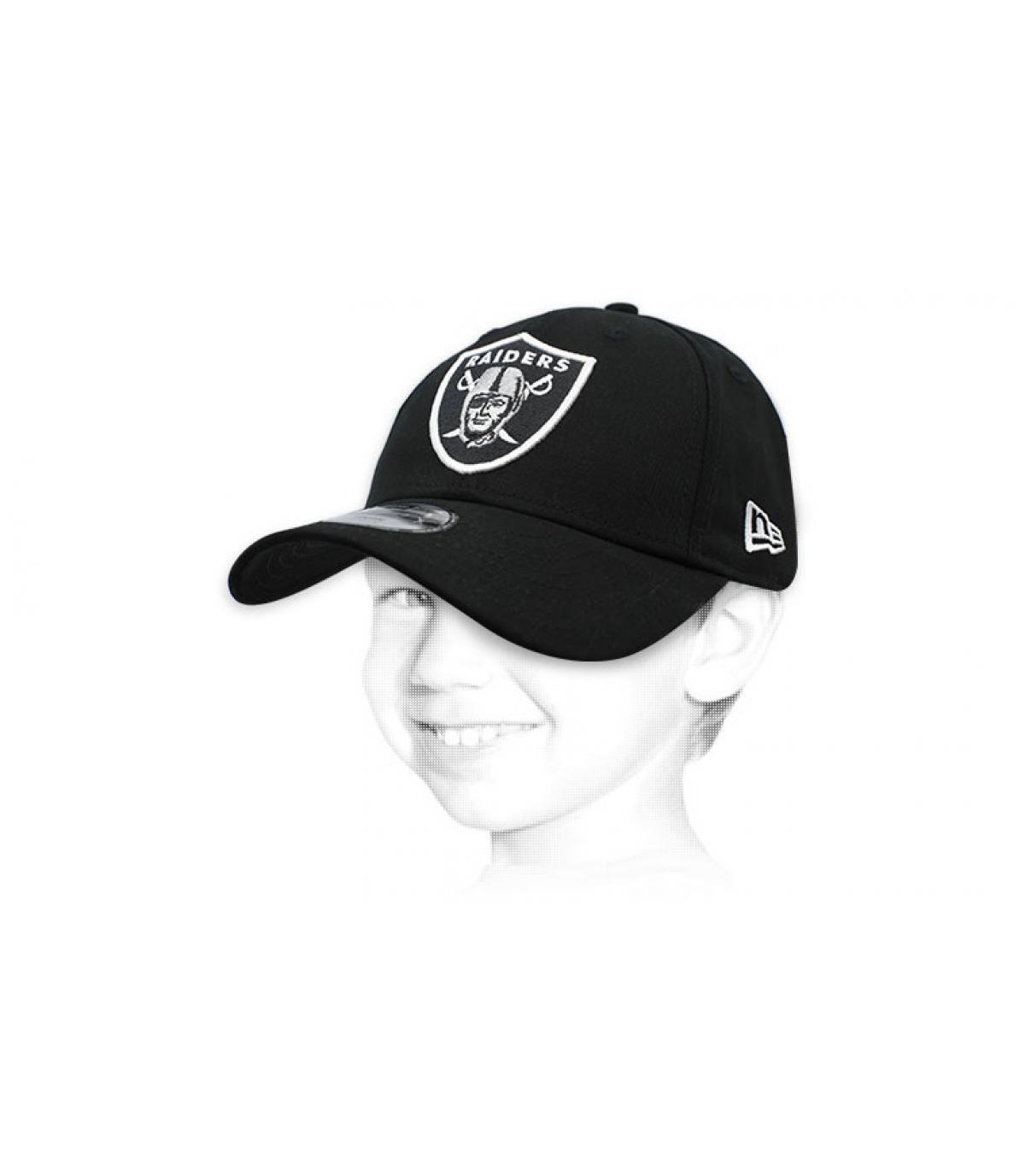 cap Raiders zwart kind