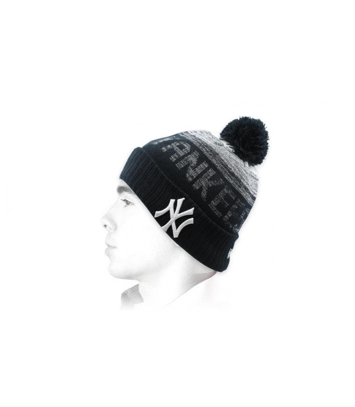 zwarte kwastjes Yankees hoed