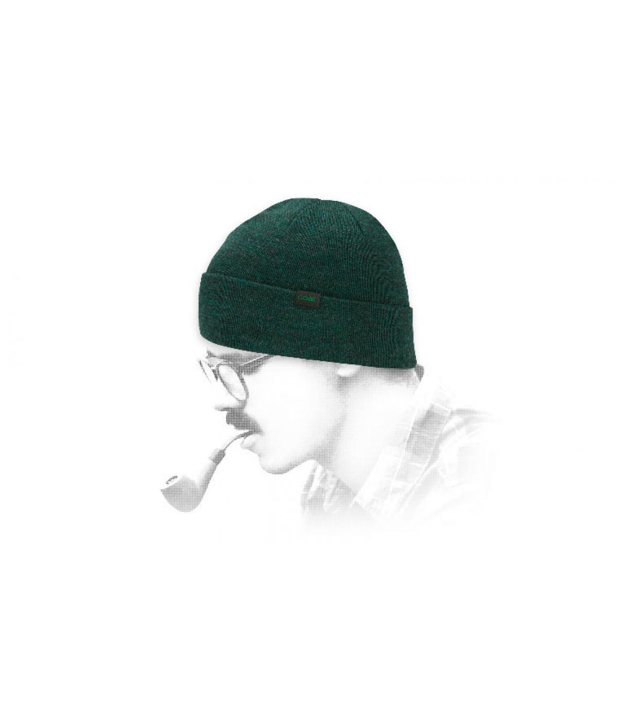 Kolengroene wollen hoed