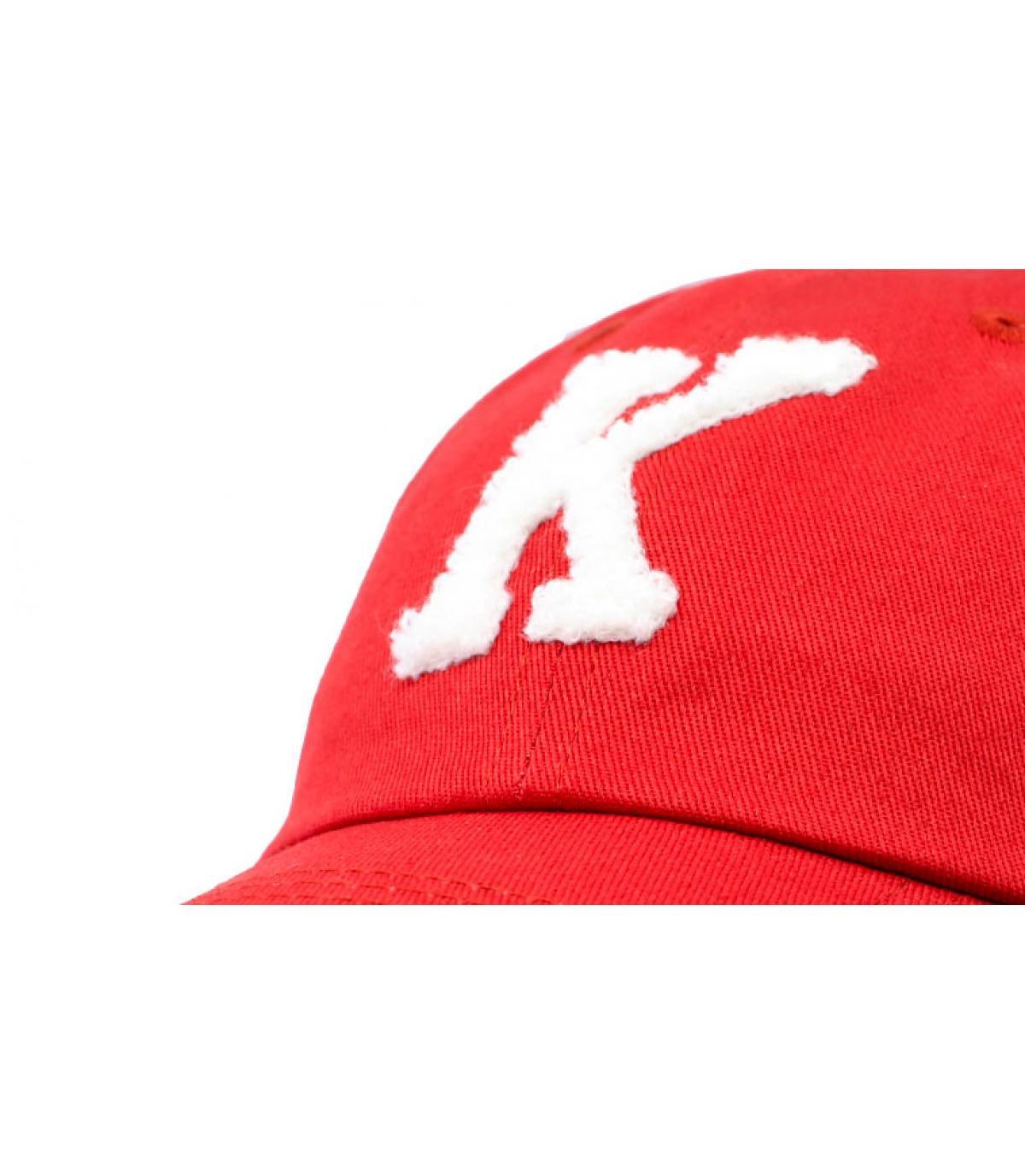 Details Curve Athletics Baseball burgundy - afbeeling 3